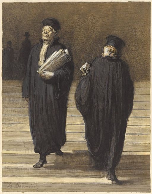 Honore Daumier.Brooklyn_Museum_-_The_Two_Colleagues_(Lawyers)_(Les_deux_confrères_Avocats)_-_Honoré_Daumier.jpg