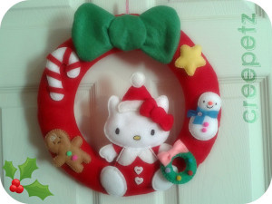 Hello Kitty Wreath.flickrCC.Christiana
